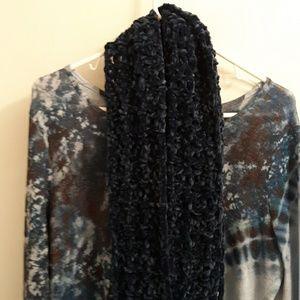 Crochet Cowl Women Cowl Teen Cowl Navy Blue